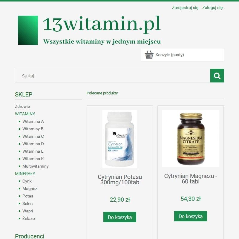 Sklep online z witaminami