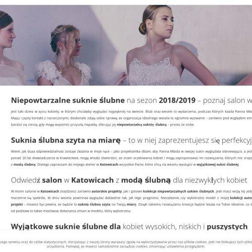 Projektowanie sukien - Katowice