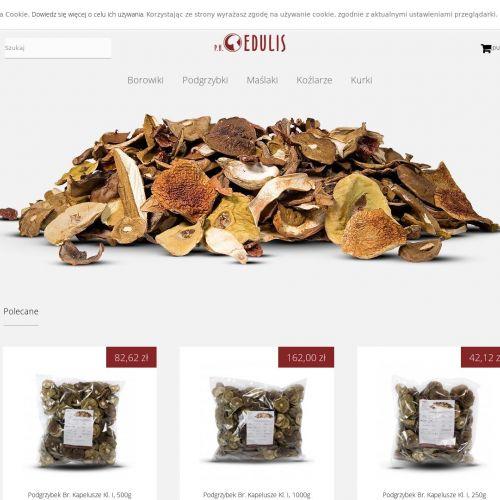 Sklep internetowy z grzybami suszonymi