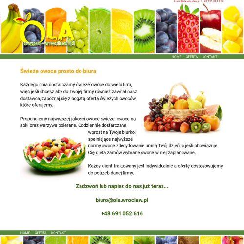 Tanie owoce z dostawą do firmy