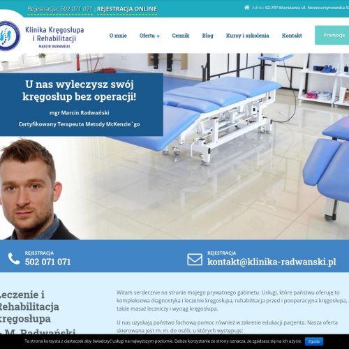 Gabinet rehabilitacji kręgosłupa
