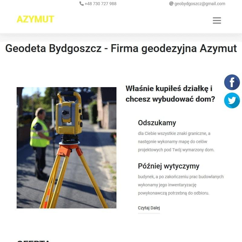 Geodezyjne obsługi budów w Bydgoszczy