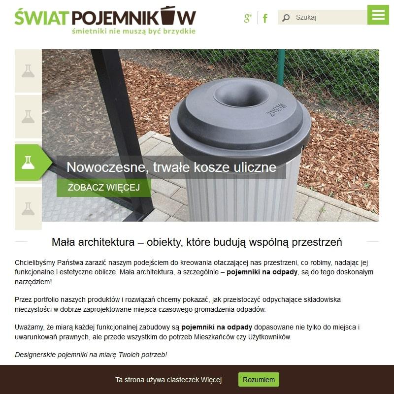 Edukacyjny pojemnik na odpady