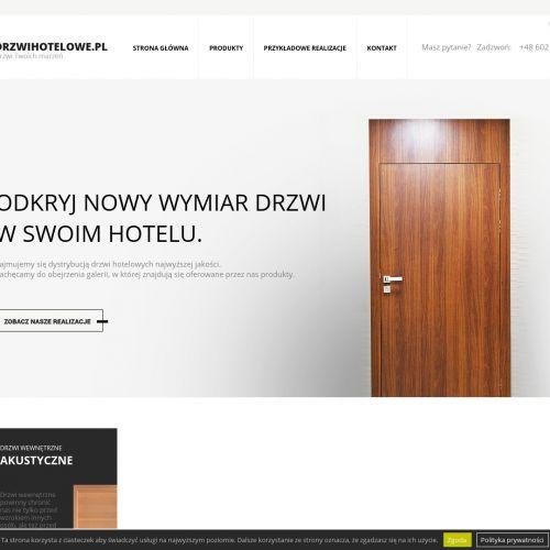Drzwi hotelowe szklane