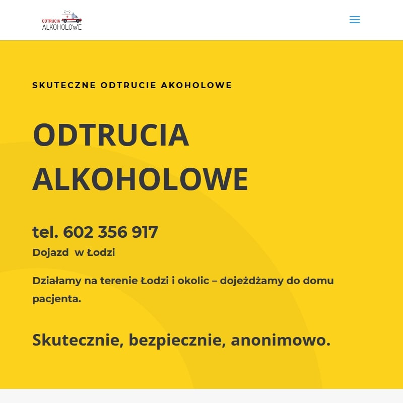 Odtrucie alkoholowe – Łódź