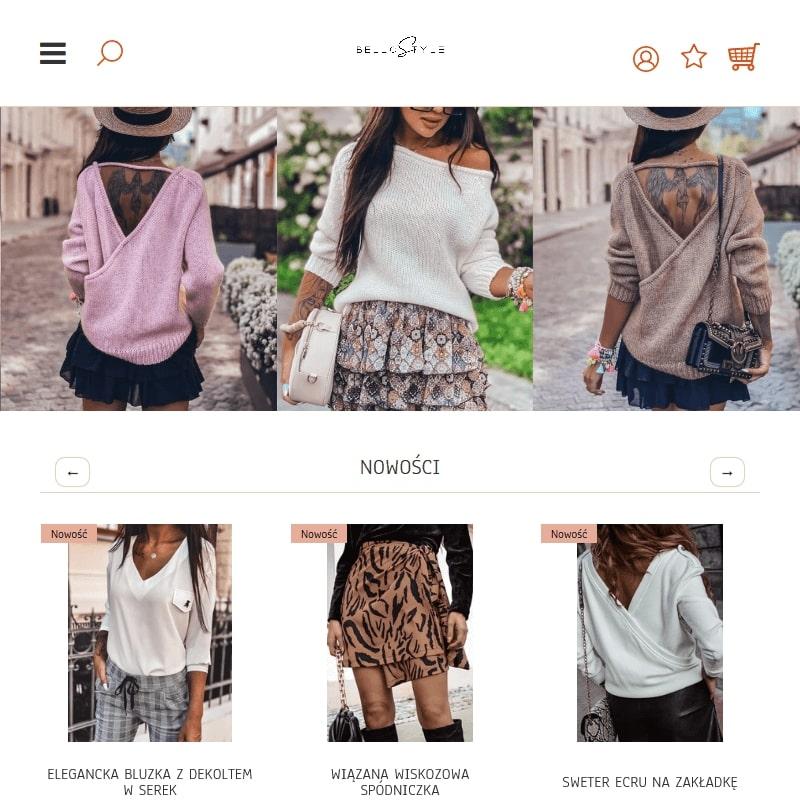 Internetowy butik z odzieżą damską online