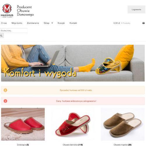 Męskie pantofle domowe