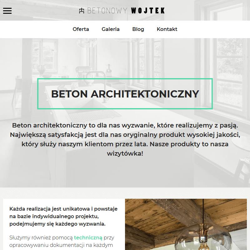 Beton architektoniczny - Łódź