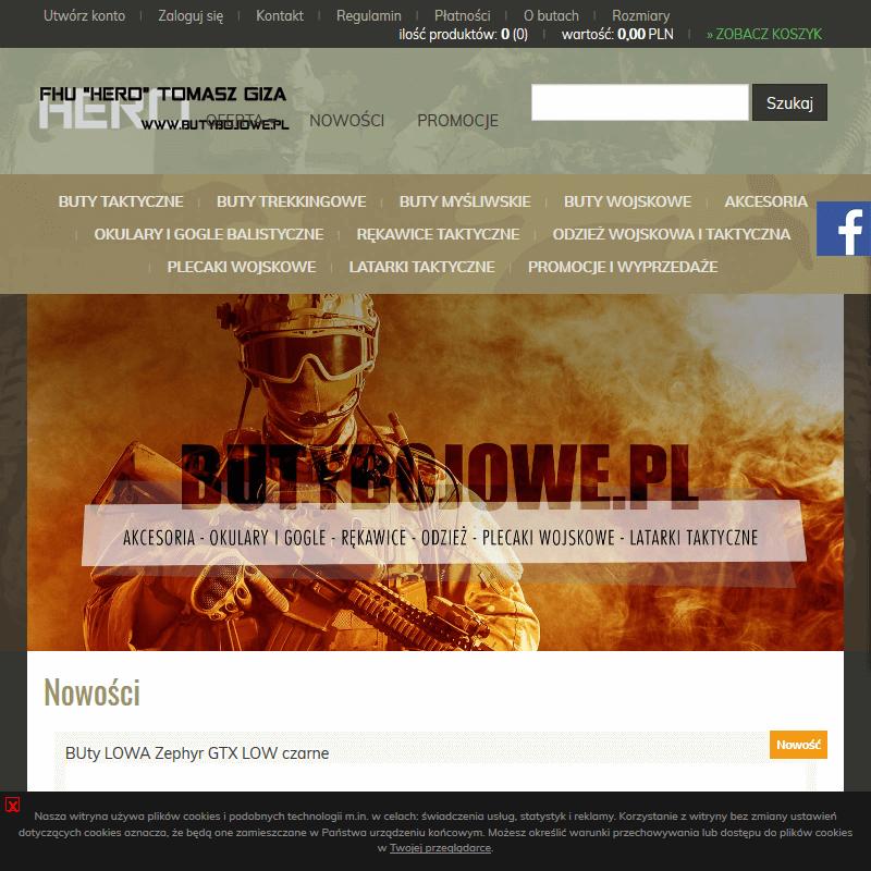 Militarny sklep internetowy