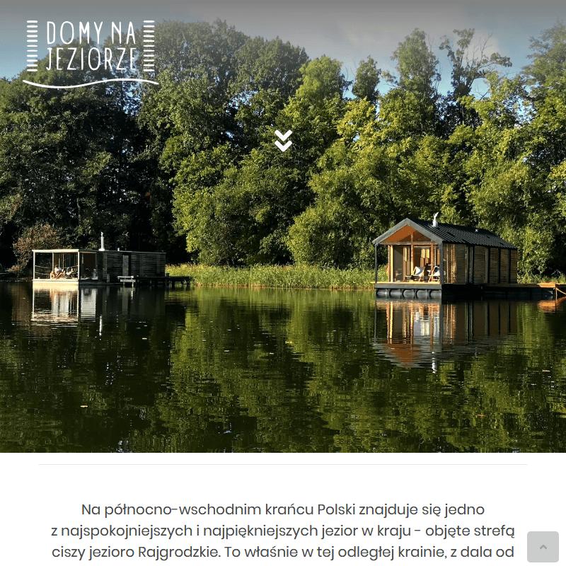 Komfortowe domki nad jeziorem