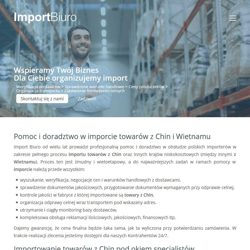 Doradztwo w importowaniu towarów z Chin