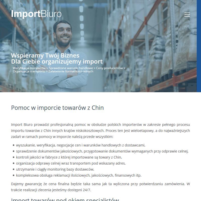 Bezpośrednie importowanie towarów z Chin