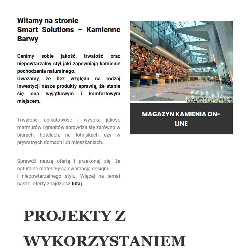Granit architektoniczny - Warszawa