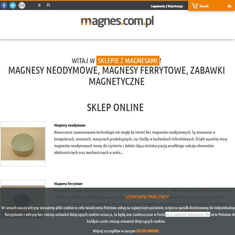 Mocne kwadratowe magnesy