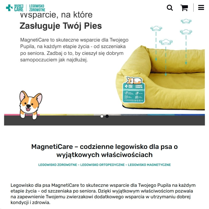Sklep internetowy z legowiskami zdrowotnymi dla psów