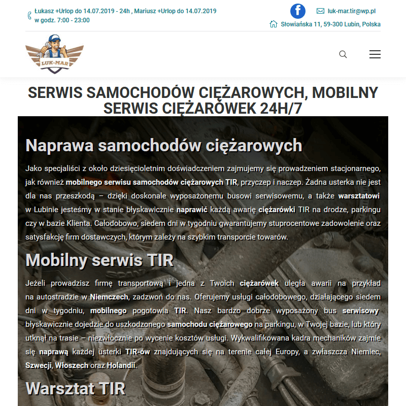 Mobilny serwis TIR-ów