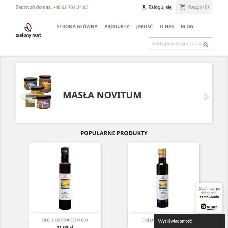 Oleje: arachidowy, budwigowy i dyniowy